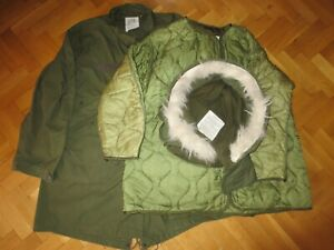 Genuine US Army  M-65 Extreme Cold Weather Fishtail Parka with liner and hood M