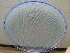"""SERVING TRAY NEON BLUE 15"""" ROUND ACRYLIC BAR (MUST BE USED WITH BLACK LIGHT)"""