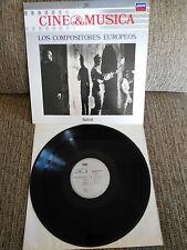 """LOS COMPOSITEURS EUROPÉENS BANDE ORIGINALE LP VINYLE 12"""" 1987 VG VG+ LONDON"""