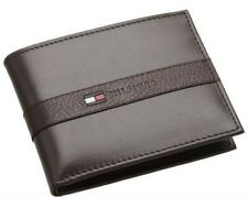 Tommy Hilfiger Mens Leather Credit Card Wallet Bifold Organizer 31tl22x062 Brown