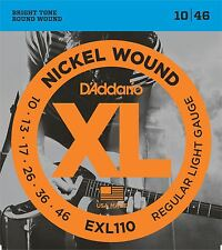 D'Addario EXL110 Electric Guitar Strings Regular Light 10-46
