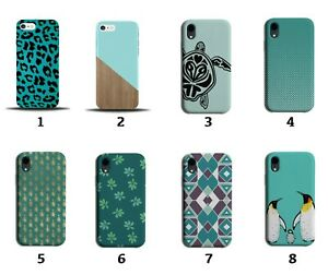 Turquoise Green Phone Case Cover Wood Wooden Turtles Maroon Pattern Design 8132