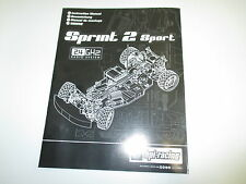 HPI 1/10 Sprint 2 Sport Drift On Road Instruction Manual Book parts ONLY OZRC