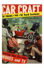 New Hot Rod Poster 11x17 Car Craft Magazine Cover Art 49-51 Ford Custom
