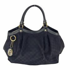 Gucci GG Canvas Sukey Large Black Bag (20095-1)