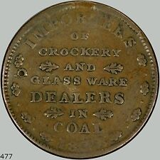 E.F. Sise & Co. Hard times token, 1837 Portsmouth NH