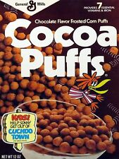 1988 Cocoa Puffs Cereal Box High Quality Metal Magnet 3 x 4 inches 9580