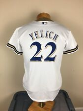 Majestic Milwaukee Brewers Christian Yelich #22 Cool Base Jersey Youth Size L