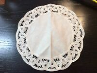 Vintage Doilie Hand Made Doily Crochet Table Lace Dresser Scarf Staging 0321