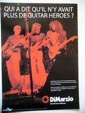 PUBLICITE-ADVERTISING :  DiMARZIO micros  12/2004 Satriani,Vai,Malmsteen,G3