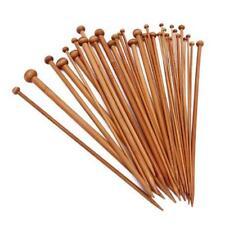 Carbonized Bamboo Needles Knitting Set Single Pointed Crochet Needle Kit Tool