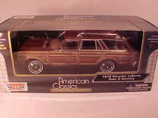 1979 Chrysler LeBaron Station Wagon Die-cast Car 1:24 by Motormax 8 inch Rust
