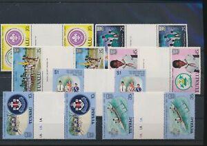 LN71982 Tuvalu mixed thematics gutter pairs MNH
