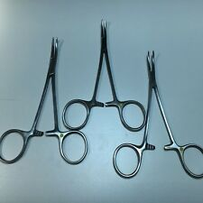 """Securos Veterinary (3) Halsted Mosquito Forceps 5"""" Curved #1003"""