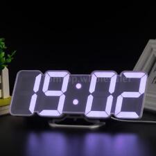 3D Wireless Remote RGB LED Alarm Clock USB Powered Time/Temperature/Date P9F5