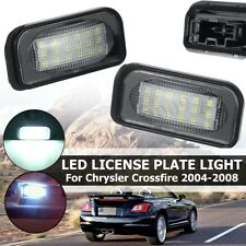 Pair 18-SMD Xenon White LED License Plate Light For Chrysler Crossfire 2004-2008
