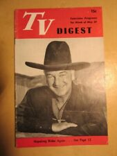 May 1950 Hopalong Cassidy Cover Tv Digest Pre -National Philadelphia, Pa