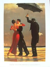 d3573aa2c85 Jack Vettriano Lithograph Poster Singing Butler Dance 1999 11x15