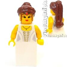 C208 Lego Queen Leonora Bride Custom Minifigure with Amidala Padme Hair NEW