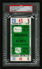 PSA 5 VANCOUVER 1974 Unused NHL Hockey Ticket for ATLANTA at Pacific Coliseum