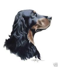 Gordon Setter Art Print Watercolor Painting 8 x 10 Signed by Artist Djr w/Coa