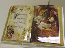 Goldilocks Bradford Exchange book shaped porcelain collector plate with easel