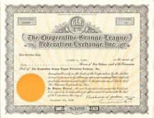 Cooperative Grange League Federation Exchange > New York GLF stock certificate