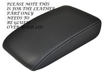 WHITE STITCH FITS VW GOLF MK5 MK6 ANTHRACITE DARK GREY LEATHER ARMREST COVER