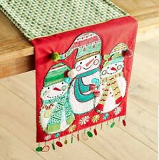 """Pier1 Import Christmas Snowman  Table Runner 13"""" x 72"""" NEW IN PACKAGE"""