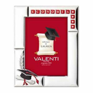 Cornice Porta Foto 13 x 18 Valenti In Argento Regalo Laurea Personalizzabile