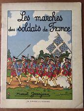 Soldatenbilderbuch. Kriege- Soldats de France. Marcel Jeanjean. 1920