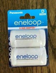 2 Panasonic Eneloop Battery Adapter / Spacer Size AA TO D