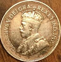 1929 NEWFOUNDLAND SILVER 5 CENTS COIN