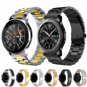 For Samsung Galaxy Watch 3 41mm 45mm Stainless Steel Strap Metal Watch Band+Tool