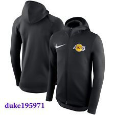 Nike Los Angeles Lakers Showtime Therma Flex On Court Full-Zip Hoodie Black -LG