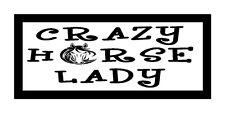 Crazy Horse Lady.... Unique Horse Lover Gift Magnet for Fridge or Car...New!!!