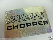 RALEIGH CHOPPER MK 2 SEAT PLATE DECAL - PRISMATIC - CHOPPER SEAT STICKER