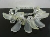 VTG AWESOME RETRO CELLULOID / LUCITE FRUIT SALAD BIB NECKLACE