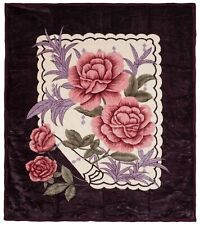 Soft Heavy Weight Thick Plush Mink Blanket King Size 8 Pound Rose Winter Warm
