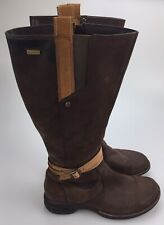Merrell Captiva Womens 8 38.5 Waterproof Boots Brown Leather Buckle Strap Zip Up