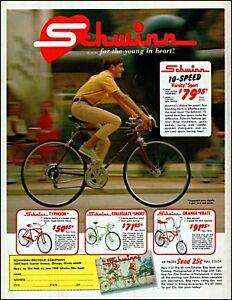 1969 boy riding Schwinn bicycle varsity sport vintage photo print Ad adL52