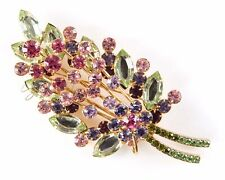 Joan Rivers Pink Green Floral Bouquet Brooch Pin