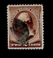 US Sc 210  2 cent  WASHINGTON  USED - Crisp Color - Centered