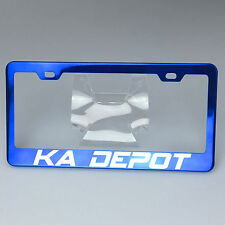 Spy Agency Font Personalized Custom Laser Engraved Blue License Plate Frame Ford