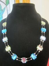 Blue and Green Bezel Necklace