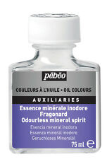 Transparent Odourless Mineral Spirit 75ml Pebeo Turpentine Paint Thinner