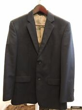Fellini Uomo Polyester & Rayon Blend Blue Lined Two Button Blazer -Size-38R