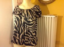 Wallis top in black and gold, size L
