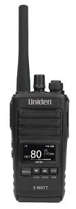 UNIDEN UH755 SINGLE 5 WATT UHF CB SPLASHPROOF HANDHELD RADIO