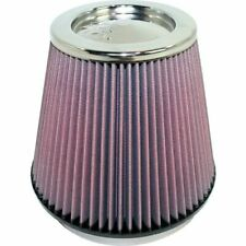 """K&N 6"""" Round Tapered Universal Air Intake Cone Filter Chrome Top Car/Truck/SUV"""